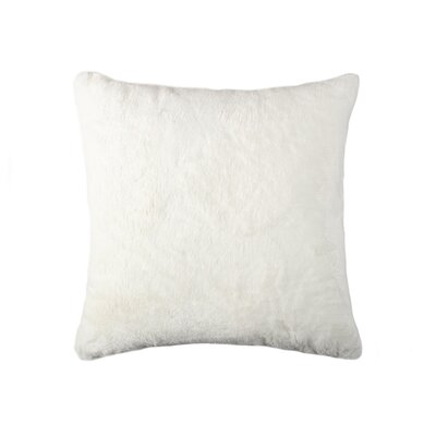Sheba Square Faux Fur Throw Pillow Color: Cream