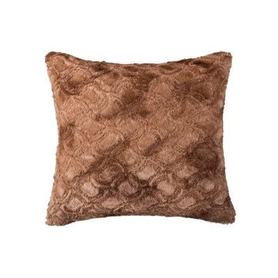 Sheba Square Brown Mink Faux Fur Throw Pillow