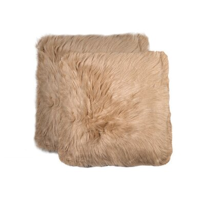 Sheba Faux Fur Throw Pillow Color: Tan