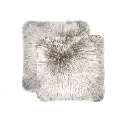 Sheba Faux Fur Throw Pillow Color: Gray