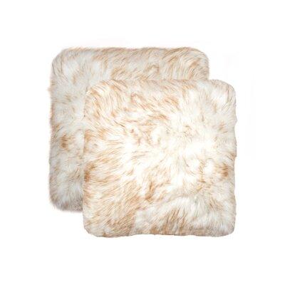 Sheba Faux Fur Throw Pillow Color: Gradient Tan