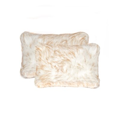 Sheba Faux Fur Lumbar Pillow Color: Gradient Tan
