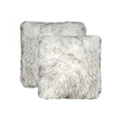 Sheba Faux Fur Throw Pillow Color: Gradient Gray