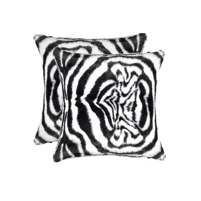 Beirut Denton Zebra Faux Fur Throw Pillow
