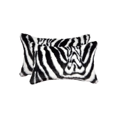 Beirut Denton Zebra Faux Fur Lumbar Pillow