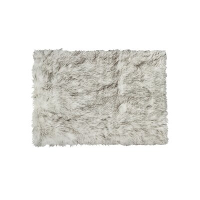 Shawnta Faux Sheepskin Gradient Gray Area Rug Rug Size: Rectangle 4 x 6