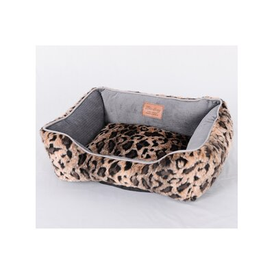 Faux Leopard Fur Luxury Dog Bed Size: Medium (21.6 L x 25.5 W)