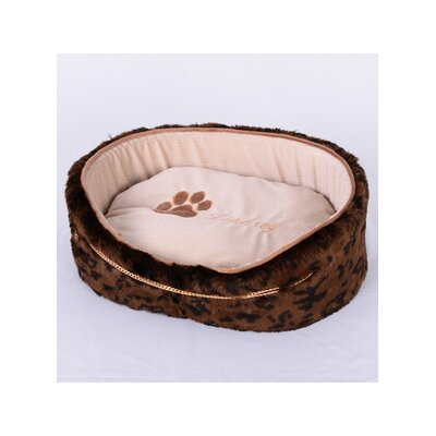 Faux Luxury Leopard Fur Dog Bed Size: Medium (18 L x 21 W)