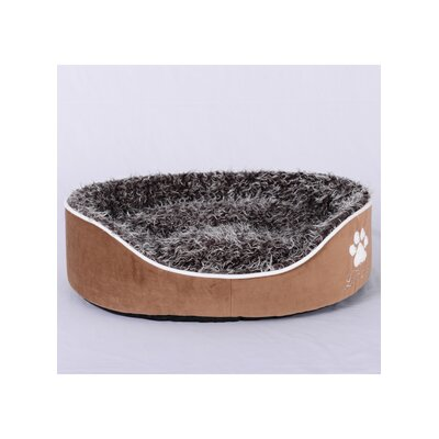 Faux Lamb Fur Dog Bed Size: Small (23 x 18 x 6)(WxLxH), Color: Light Brown