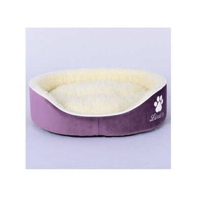 Faux Lamb Fur Dog Bed Size: Medium (22 L x 27 W), Color: Purple