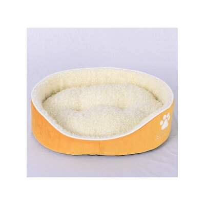 Faux Lamb Fur Dog Bed Size: Large (26 L x 31 W), Color: Yellow