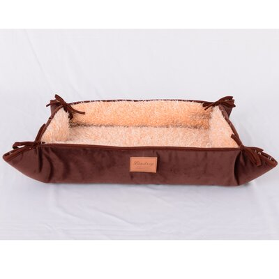 Faux Lamb Fur Magic Dog Bed Color: Dark Brown