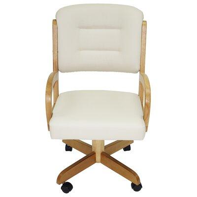 Arm Chair Upholstery: Ocean Brown