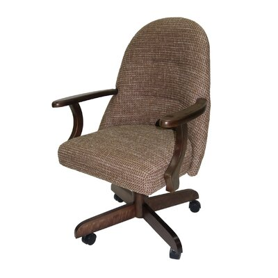 Chenard Swivel Upholstered Dining Chair Upholstery: Checkered Fabric
