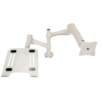 Computer Monitor Height Adjustable Universal Desk Mount Finish: White