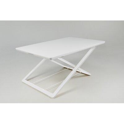 Crocamo 17 H x 32 W Standing Desk Conversion Unit Finish: White