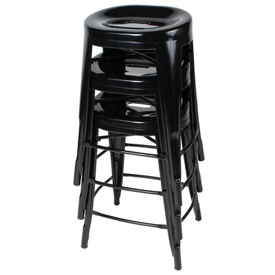 Godbolt 24 Bar Stool Color: Black