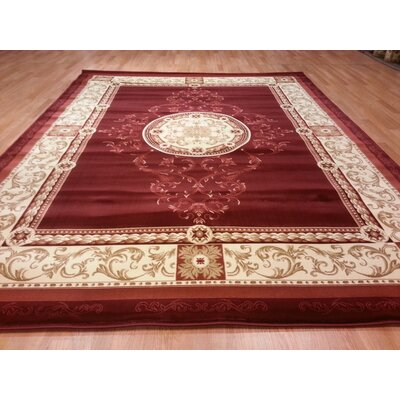 Red Area Rug Rug Size: 66x99