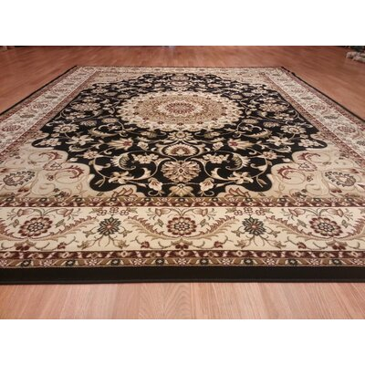 Black Area Rug Rug Size: Rectangle 711 x 910