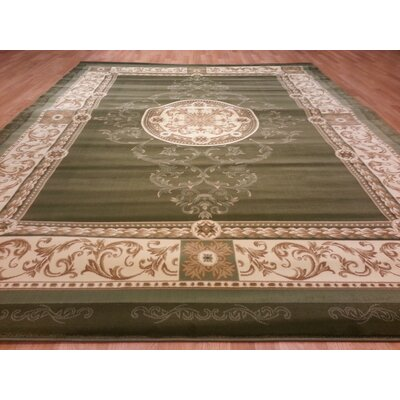 Green Area Rug Rug Size: Round 8