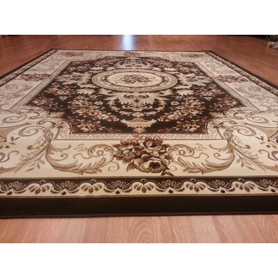 Brown Area Rug Rug Size: Rectangle 53 x 72