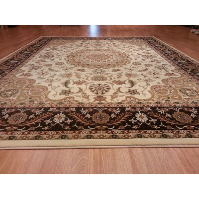 Brown/Beige Area Rug Rug Size: Runner 27 x 91