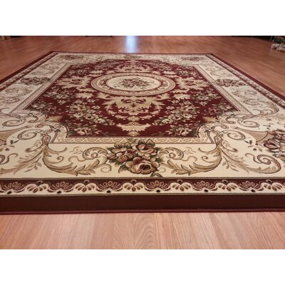 Red Area Rug Rug Size: Rectangle 66x99