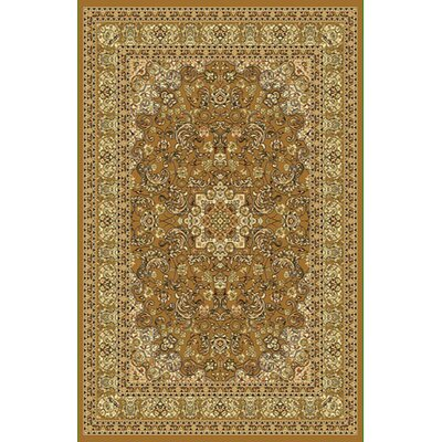 Brown/Biege Area Rug Rug Size: Round 7
