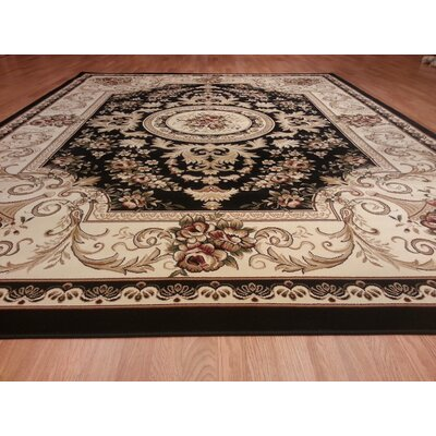 Black Area Rug Rug Size: Rectangle 53 x 72