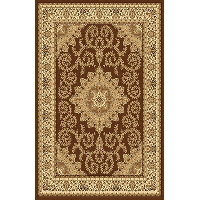 Brown/Beige Area Rug Rug Size: 711 x 910