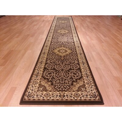 Brown/Beige Area Rug Rug Size: Runner 27 x 146