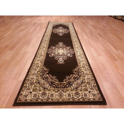 Brown Area Rug Rug Size: Runner 27 x 910