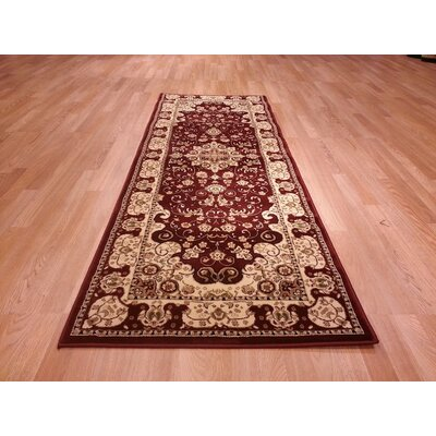 Red/Biege Area Rug Rug Size: Runner 27 x 72