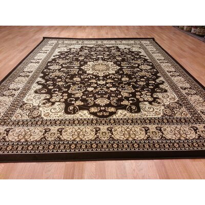Brown/Beige Area Rug Rug Size: Round 7