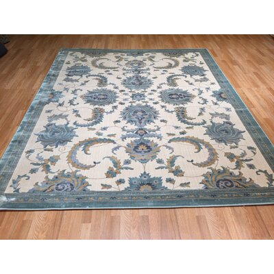 Blue Area Rug Rug Size: Rectangle 711 x 910