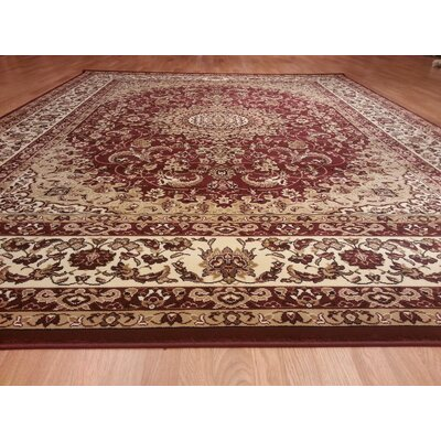 Burgundy Area Rug Rug Size: Rectangle 66x99