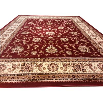 Red Area Rug Rug Size: 10 x 13