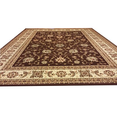 Brown Area Rug Rug Size: Round 8