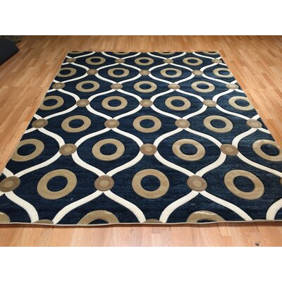 Blue/Brown Area Rug Rug Size: Runner 2 x 72
