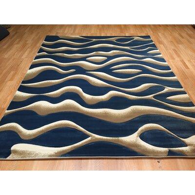 Blue Area Rug Rug Size: 711 x 910