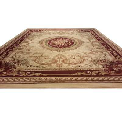 Beige Area Rug Rug Size: Rectangle 53 x 72