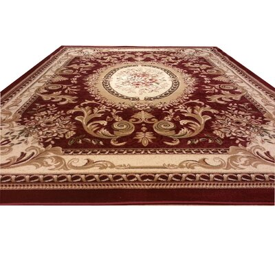 Burgundy Area Rug Rug Size: Rectangle 7 x 10