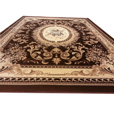 Brown Area Rug Rug Size: Rectangle 2 x 4