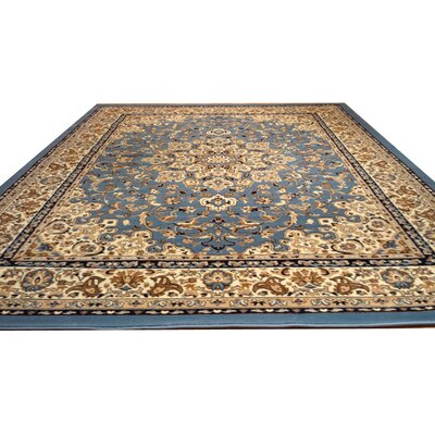 Blue Area Rug Rug Size: Rectangle 53 x 72