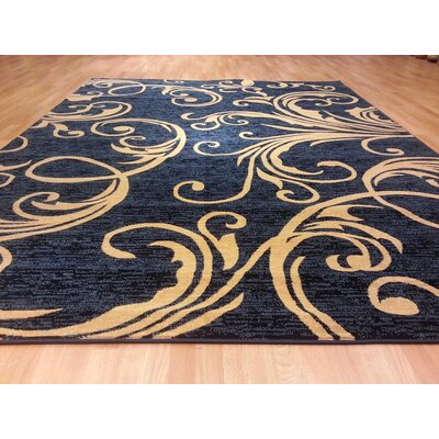 Blue/Brown Area Rug Rug Size: 53 x 72