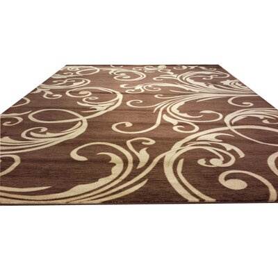 Brown Area Rug Rug Size: Rectangle 2' x 3'