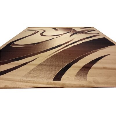 Beige/Brown Area Rug Rug Size: 53 x 72