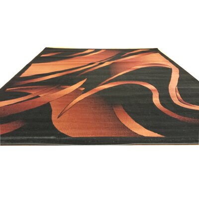 Black/Brown Area Rug Rug Size: Rectangle 711 x 910