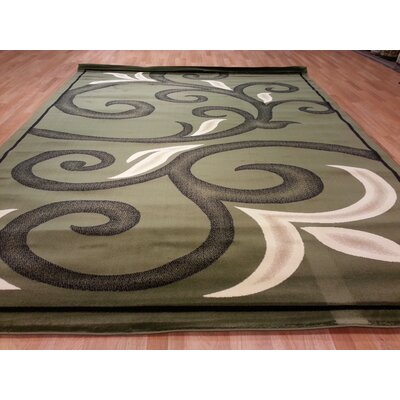 Green Area Rug Rug Size: Rectangle 711 x 910