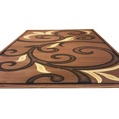 Brown Area Rug Rug Size: Rectangle 7 x 10